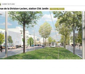 Agrandir Perspective de al station Cité-Jardin à Châtenay-Malabry