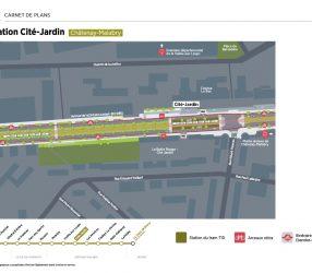 Agrandir Plan de la station Cité-Jardin à Châtenay-Malabry