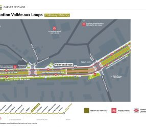 Agrandir Plan de la station Vallée aux Loups à Châtenay-Malabry