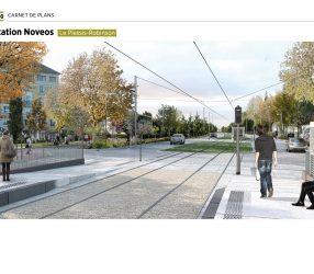 Agrandir Perspective de la station Novéos au Plessis-Robinson
