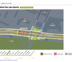 Agrandir Plan de la station Parc des Sports au Plessis-Robinson