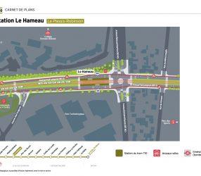 Agrandir Plan de la station Le Hameau au Plessis-Robinson