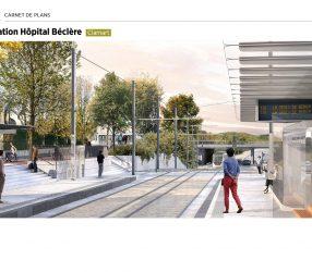 Agrandir Perspective de la station Hôpital Béclère à Clamart