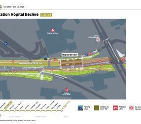 Agrandir Plan de la station Hôpital Béclère à Clamart