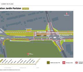 Agrandir Plan de la station Jardin Parisien à Clamart