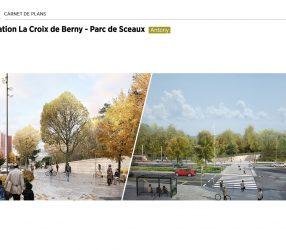 Agrandir Perspective de la station Croix de Berny à Antony