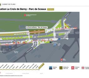 Agrandir Plan de la station Parc de Sceaux