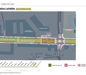 Agrandir Plan de la station La Vallée à Châtenay-Malabry